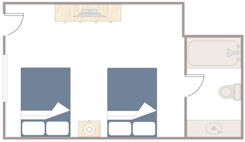 Floor Plan - Hotel Room