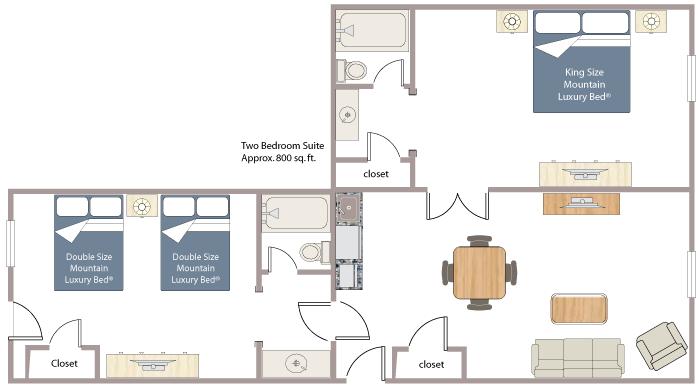 Superior Two Bedroom Suite - Fox Hotel & Suites - Banff Hotel