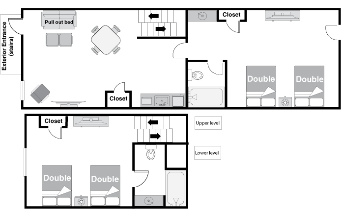 Floor Plan - Two Bedroom Suite